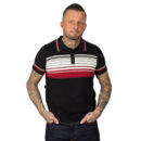 POLO COLLECTIF MENSWEAR PERU STRIPED BEIGE & BORDEAUX ON BLACK