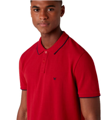 POLO WRANGLER SHORT SLEEVE PIQUE RED