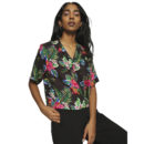 CAMISA DICKIES TALMO WOMEN'S CROPPED REVERE BLACK SHIRT
