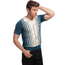 POLO COLLECTIF PABLO STRIPED KNITTED POLO SHIRT