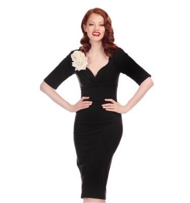 VESTIDO COLLECTIF TRIXIE BLACK PENCIL DRESS