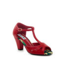 "ZAPATOS COLLECTIF ""LULU HUN"" VERONICA RED HIGH HEELS SHOES"