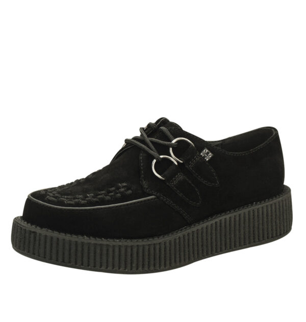 T.U.K CREEPERS BLACK SUEDE LOW SOLE VIVA