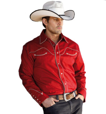 CAMISA WESTERN CHICO STARS & STRIPES JACK RED