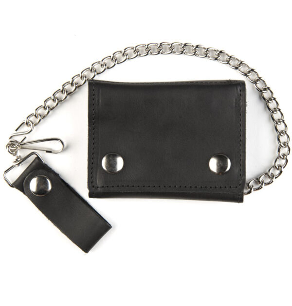 CARTERA MASCORRO SHORT TRI-FOLD CHAIN WALLET