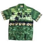 CAMISA HAWAIANA WINNIE FASHION SUNSET GREEN