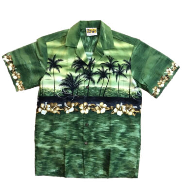 CAMISA HAWAIANA WINNIE FASHION SUNSET GREEN