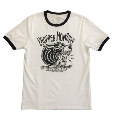 CAMISETA CHOPPER MONSTER COYOTE RIBETE AZUL OSCURO