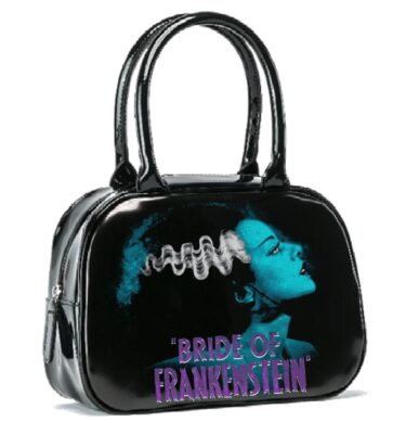 BOLSO ROCK REBEL UNIVERSAL MONSTER BLUE BRIDE BOWLER HANDBAG