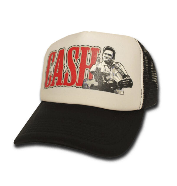 TRUCKER CAP TOXICO JOHNNY CASH WHITE/BLACK