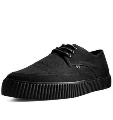 T.U.K. BLACK BASIC TWILL POINTED LACE UP EZC