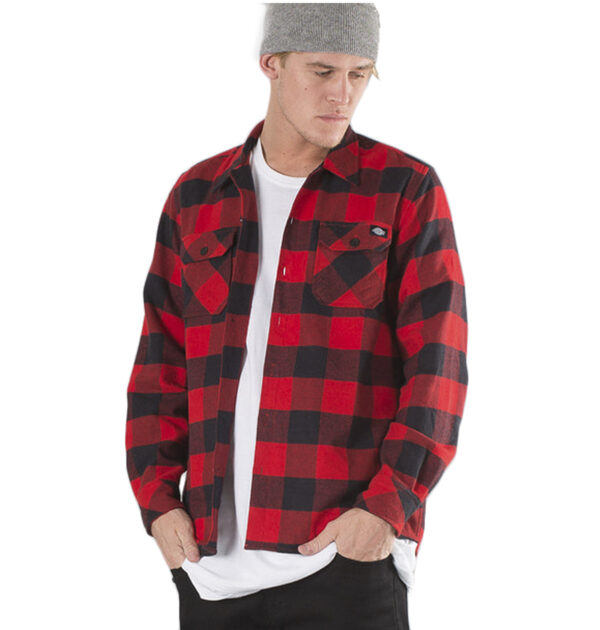 CAMISA DICKIES SACRAMENTO FLANNEL RED COLOR