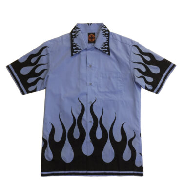 CAMISA CHENASKI BLACK FLAME RETRO SHIRT