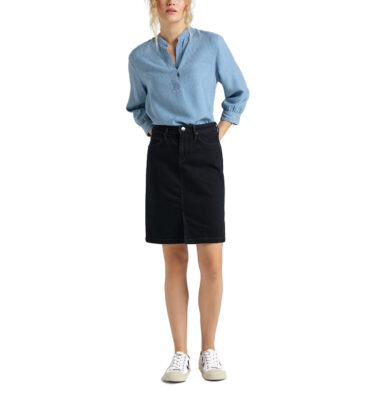 FALDA VAQUERA LEE®PENCIL SKIRT CLEAN BALLAD DARK BLUE