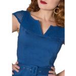 VESTIDO SHEEN YETTA 50'S PENCIL DRESS BLUE