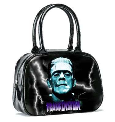 BOLSO ROCK REBEL UNIVERSAL MONSTER BLUE FRANKENSTEIN BOWLER HANDBAG