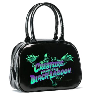 BOLSO ROCK REBEL UNIVERSAL MONSTER BLUE CREATURE BOWLER HANDBAG