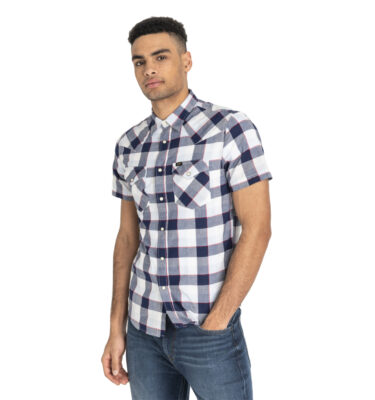 CAMISA LEE® SHORT SLEEVE WESTERN SHIRT BLUEPRINT