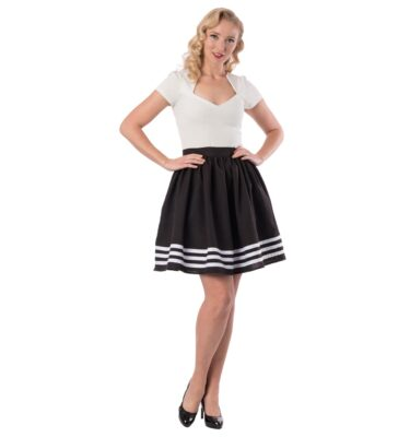 FALDA STEADY HIGH TIDE SKIRT IN BLACK