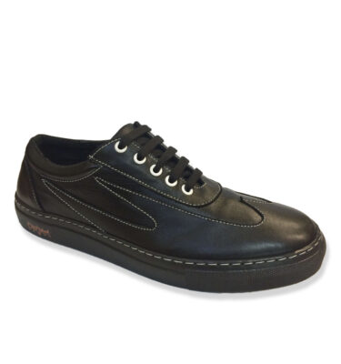 OLD SCHOOL HOT ROD BLACK LEATHER SNEAKERS