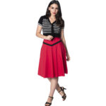 FALDA BANNED RETRO ROCKING' RED FLARED SKIRT
