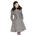 ABRIGO HELL BUNNY PASCALE BLACK & WHITE COAT