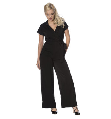 MONO BANNED APPAREL OCCASION 60'S JUMPSUIT BLACK