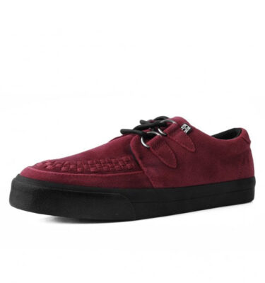T.U.K. DARK RED SUEDE D-RING VLK SNEAKER