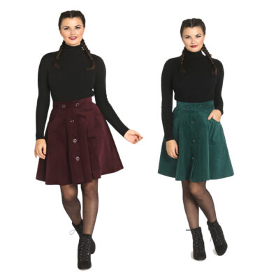 FALDA DE PANA HELL BUNNY WONDER YEARS MINI SKIRT