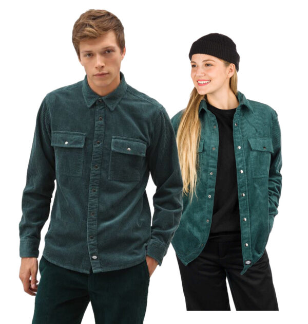 CAMISA DICKIES IVEL CORD SHIRT FOREST GREEN