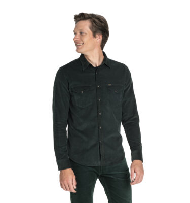 CAMISA DE PANA LEE® CLEAN WESTERN SHIRT DK. BOTTLE GREEN