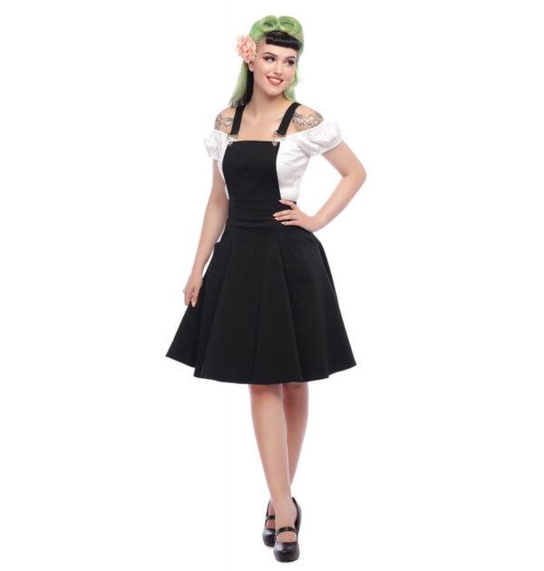 PETO COLLECTIF MAINLINE KAYDEN OVERALLS SWING DRESS
