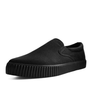 T.U.K. BLACK BASIC TWILL POINTED EZC SLIP-ON