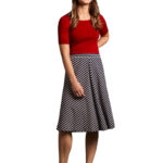 KING LOUIE JUNO JERSEY SKIRT BRETON STRIPE