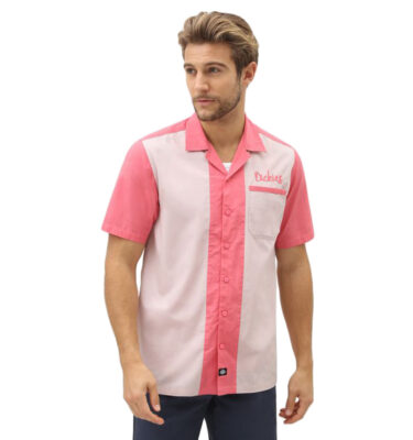 CAMISA DICKIES PULASKI MEN'S SHORT SLEEVED REVERE PINK
