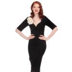 VESTIDO COLLECTIF TRIXIE BLACK PENCIL DRESS