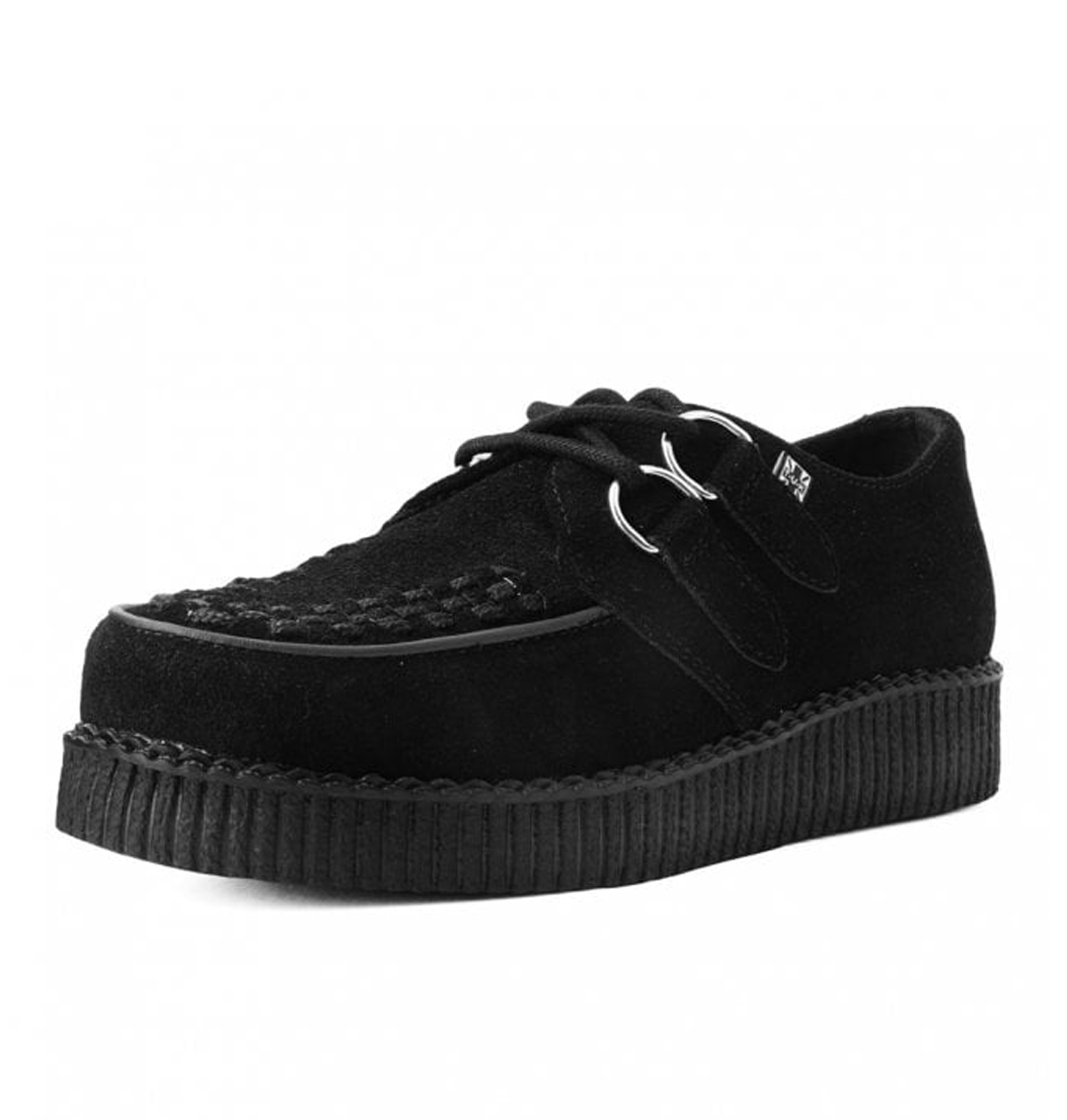 T.U.K. SHOES BLACK SUEDE VIVA FLEX ULTRA LOW SOLE CREEPER