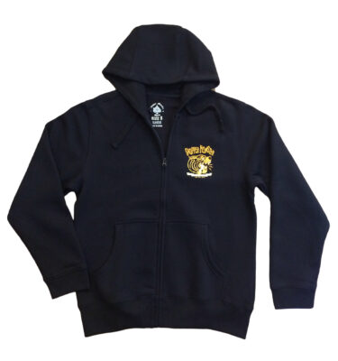 SUDADERA CHOPPER MONSTER COYOTE ON THE BACK BLACK
