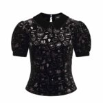 TOP COLLECTIF PETA SPOOKY VELVET TOP